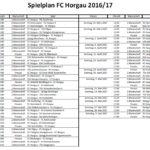 Spielplan FC Horgau 2016/17
